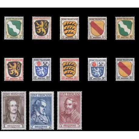 Francobollo collezione ZOFA N° Yvert e Tellier 1/13 nove senza cerniera
