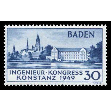 Francobollo collezione Baden N° Yvert e Tellier 46 nove con cerniera