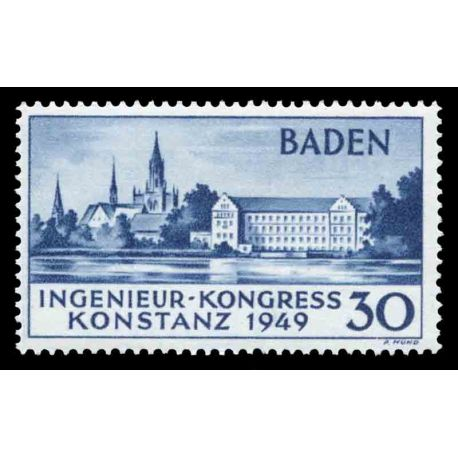 Timbre collection Bade N° Yvert et Tellier 46 Neuf avec charnière