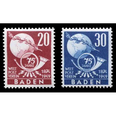 Timbre collection Bade N° Yvert et Tellier 56/57 Neuf sans charnière