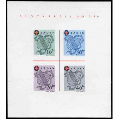 Francobollo collezione Baden N° Yvert e Tellier BF 1 nove con cerniera
