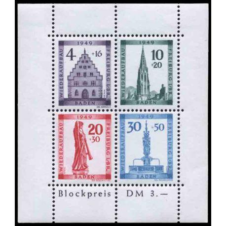 Francobollo collezione Baden N° Yvert e Tellier BF 2A Neuf con cerniera