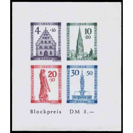 Timbre collection Bade N° Yvert et Tellier BF 2B Neuf avec charnière