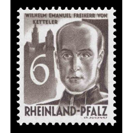 Francobollo collezione Renania N° Yvert e Tellier 33 nove con cerniera