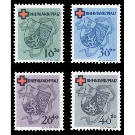 Timbre collection Rhénanie N° Yvert et Tellier 41/44 Neuf sans charnière