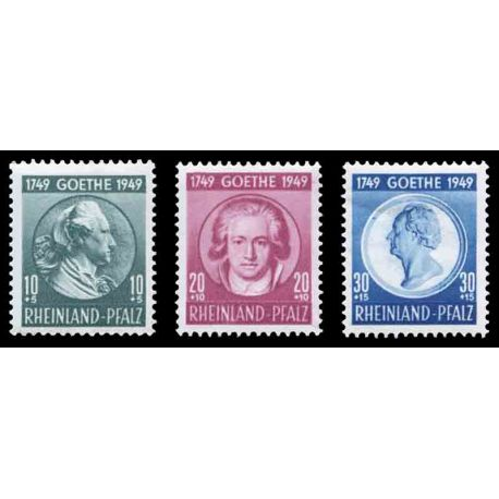 Timbre collection Rhénanie N° Yvert et Tellier 45/47 Neuf sans charnière