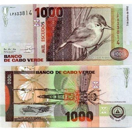 Billets de collection Billets collection Cap Vert Pk N° 65 - 1000 Escudos Billets du Cap vert 36,00 €