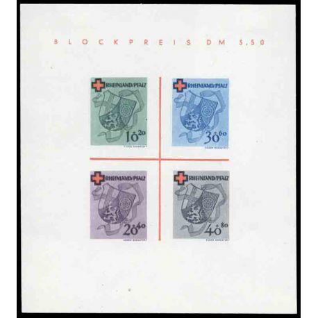 Francobollo collezione Renania N° Yvert e Tellier BF 1 nove con cerniera