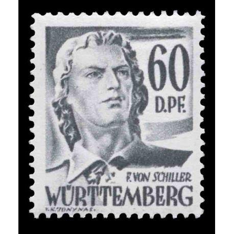 Francobollo collezione Wurtemberg N° Yvert e Tellier 25 nove senza cerniera