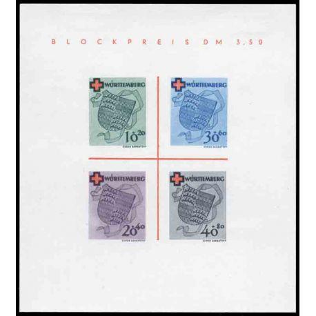 Francobollo collezione Wurtemberg N° Yvert e Tellier BF 1 nove con cerniera