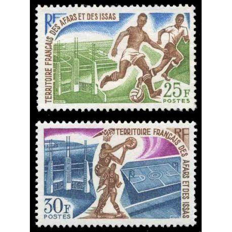 Francobollo collezione Afars ed Issas N° Yvert e Tellier 334/335 nove senza cerniera