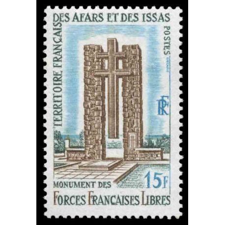 Timbre collection Afars et Issas N° Yvert et Tellier 347 Neuf sans charnière