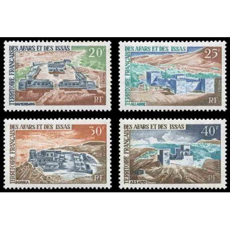 Francobollo collezione Afars ed Issas N° Yvert e Tellier 337/340 nove senza cerniera