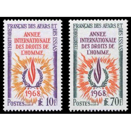 Francobollo collezione Afars ed Issas N° Yvert e Tellier 341/342 nove senza cerniera