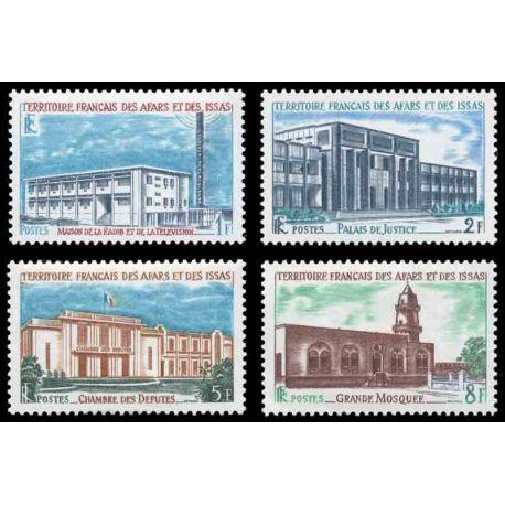 Francobollo collezione Afars ed Issas N° Yvert e Tellier 343/346 nove senza cerniera