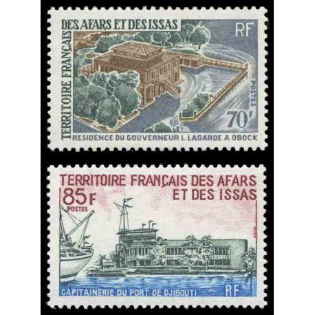 Francobollo collezione Afars ed Issas N° Yvert e Tellier 349/350 nove senza cerniera