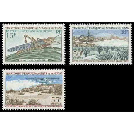 Francobollo collezione Afars ed Issas N° Yvert e Tellier 351/353 nove senza cerniera