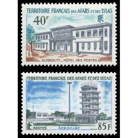 Francobollo collezione Afars ed Issas N° Yvert e Tellier 355/356 nove senza cerniera