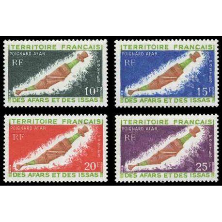 Francobollo collezione Afars ed Issas N° Yvert e Tellier 357/360 nove senza cerniera