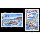 Timbre collection Afars et Issas N° Yvert et Tellier 363/364 Neuf sans charnière