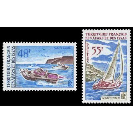 Francobollo collezione Afars ed Issas N° Yvert e Tellier 363/364 nove senza cerniera