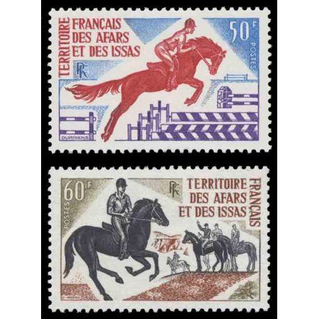 Francobollo collezione Afars ed Issas N° Yvert e Tellier 365/366 nove senza cerniera