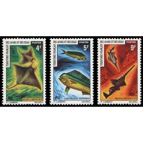 Francobollo collezione Afars ed Issas N° Yvert e Tellier 372/374 nove senza cerniera