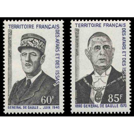 Francobollo collezione Afars ed Issas N° Yvert e Tellier 375/376 nove senza cerniera