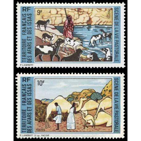 Francobollo collezione Afars ed Issas N° Yvert e Tellier 381/382 nove senza cerniera