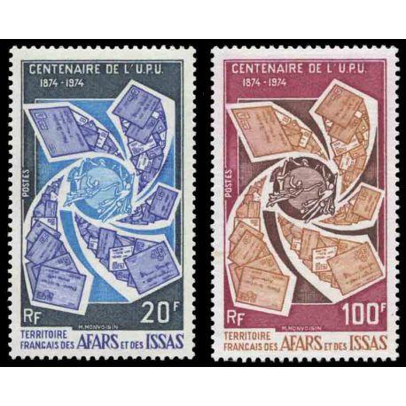 Timbre collection Afars et Issas N° Yvert et Tellier 388/389 Neuf sans charnière