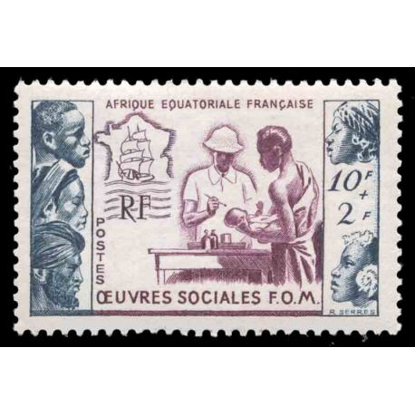 Timbre collection AEF N° Yvert et Tellier 227 Neuf sans charnière