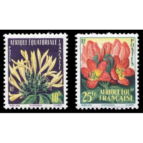 Timbre collection AEF N° Yvert et Tellier 243/244 Neuf sans charnière