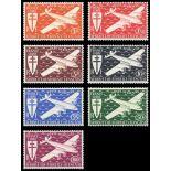 Briefmarke Sammlung AEF N° Yvert und Tellier PA 22/28 neun ohne Scharnier