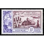 Francobollo collezione AEF N° Yvert e Tellier PA 57 nove senza cerniera
