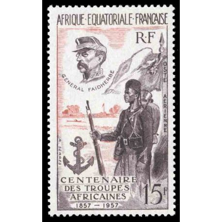 Timbre collection AEF N° Yvert et Tellier PA 62 Neuf sans charnière