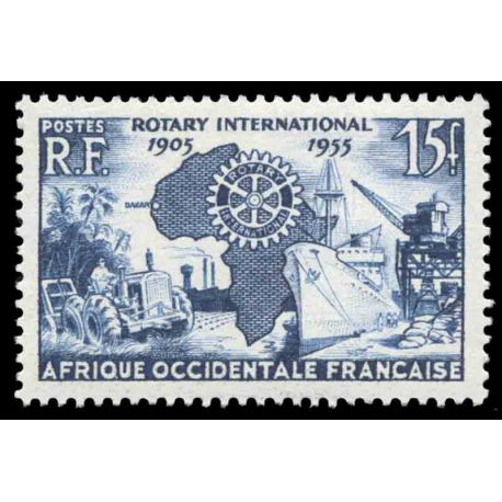 Timbre collection AOF N° Yvert et Tellier 53 Neuf sans charnière