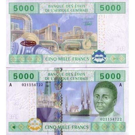 Central Africa Gabon - Pk # 409 - ticket 5000 Francs