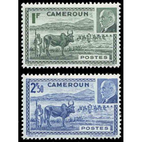 Francobollo collezione Camerun N° Yvert e Tellier 200/201 nove senza cerniera
