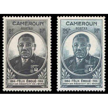 Francobollo collezione Camerun N° Yvert e Tellier 274/275 nove senza cerniera
