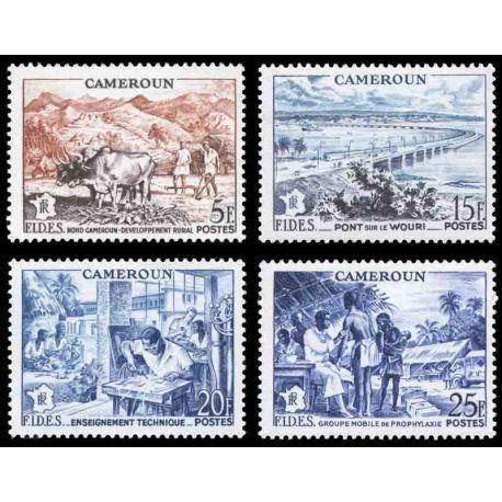 Francobollo collezione Camerun N° Yvert e Tellier 300/303 nove senza cerniera