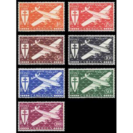 Francobollo collezione Camerun N° Yvert e Tellier PA 12/18 nove senza cerniera
