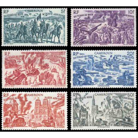Francobollo collezione Camerun N° Yvert e Tellier PA 32/37 nove senza cerniera