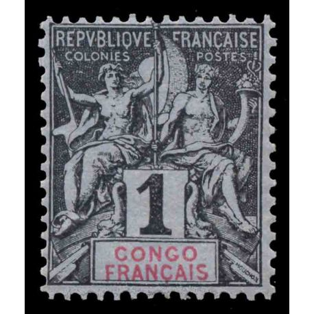 Francobollo collezione Congo N° Yvert e Tellier 12 nove senza cerniera