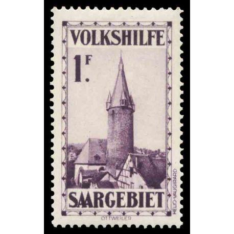Timbre collection Sarre N° Yvert et Tellier 157 Neuf avec charnière