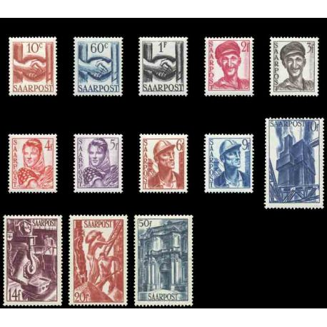 Timbre collection Sarre N° Yvert et Tellier 231/243 Neuf sans charnière
