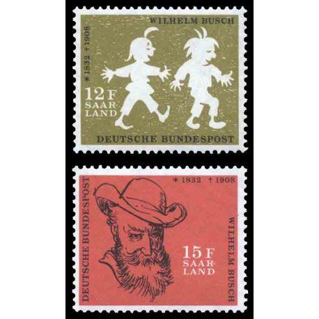 Francobollo collezione Saar N° Yvert e Tellier 411/412 nove senza cerniera