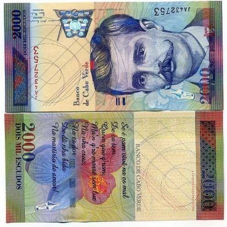Cap Vert - Pk N° 66 - Billet de 2000 Escudos