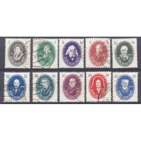 Briefmarke Sammlung die DDR N° Yvert und Tellier 15/24 gestempelt