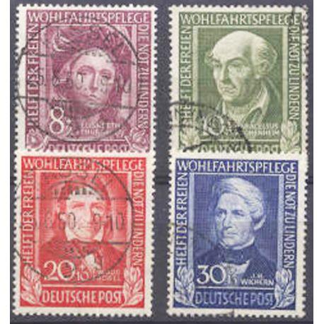 Briefmarke Sammlung die BRD N° Yvert und Tellier 3/6 gestempelt