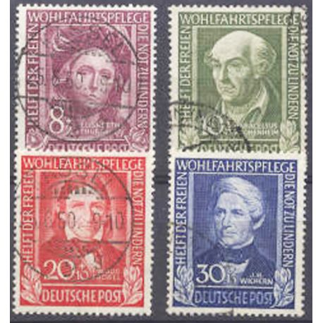 Stamp collection FRG N° Yvert and Tellier 3/6 Used